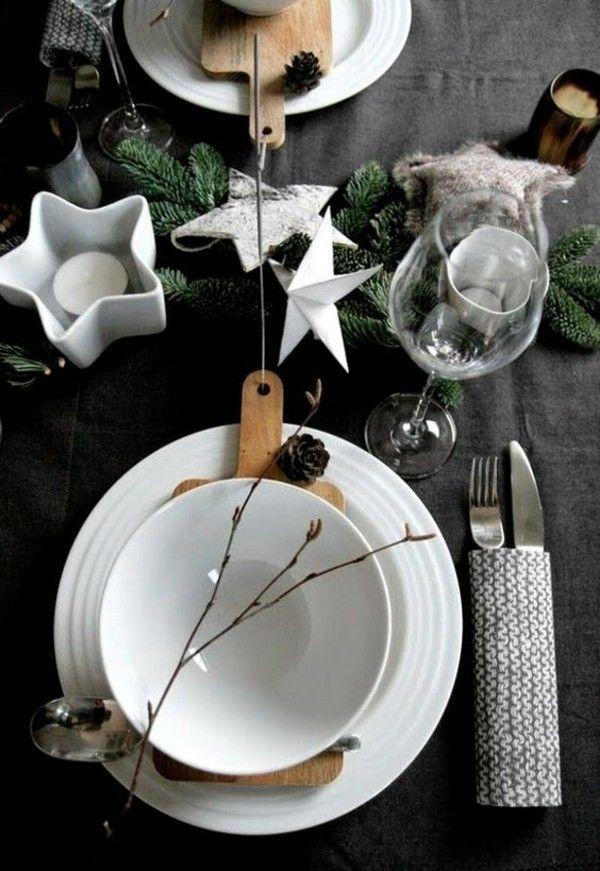 Puristische Tischdeko im Winter - 70 stilvolle Dekoideen, die jedem gelingen