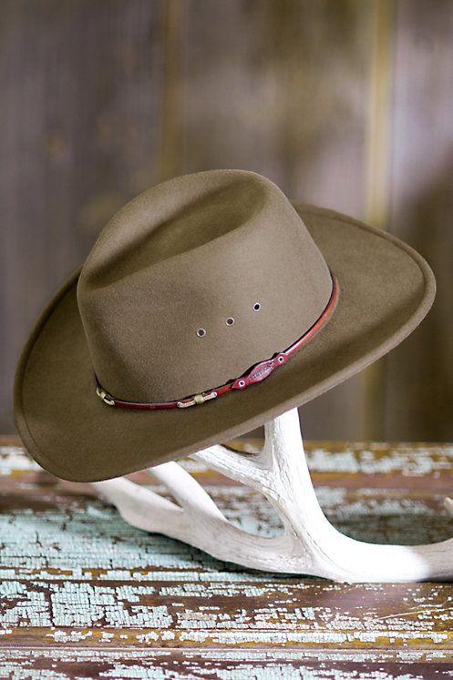 180f13ea3d1 Stetson Wildwood Crushable Wool Cowboy Hat