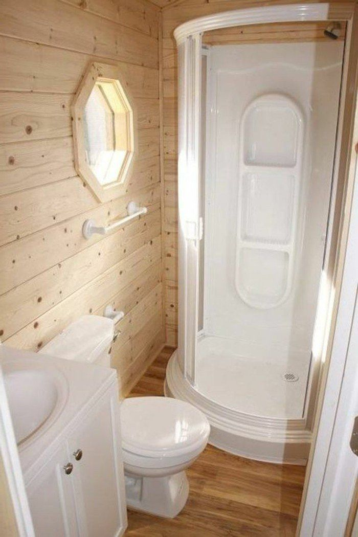 Comment aménager une salle de bain 4m2? | Bathroom ideas | Pinterest ...