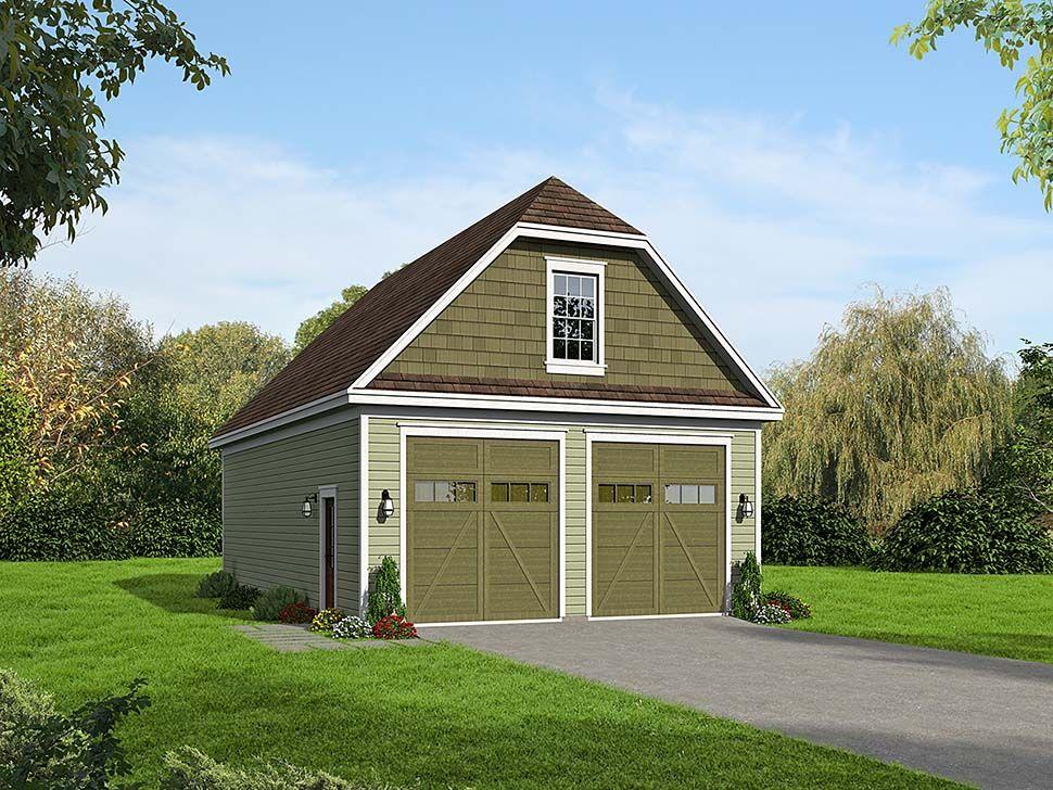 2 Car Garage Plan Number 51663, RV Storage in 2020 Rv