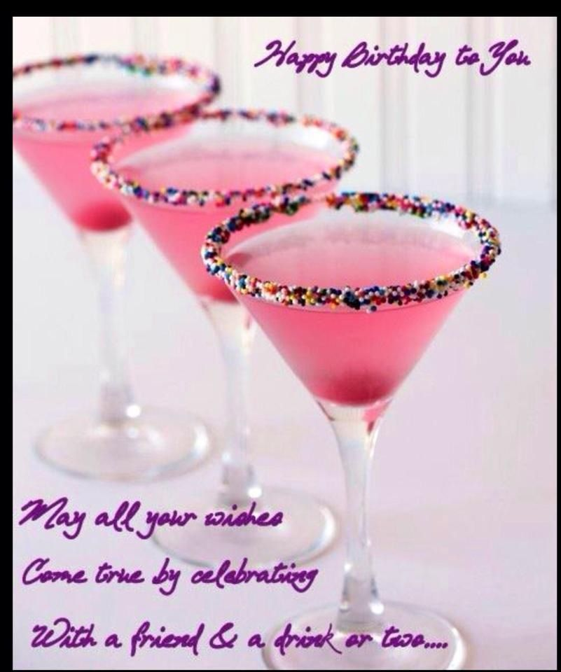 Happy Birthday Birthday Cake Martini Food Vanilla Vodka