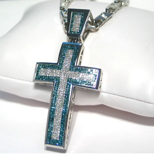 Jewelry masters 565 carat invisible blue white diamond cross jewelry masters 565 carat invisible blue white diamond cross pendant 860 bw mozeypictures Choice Image