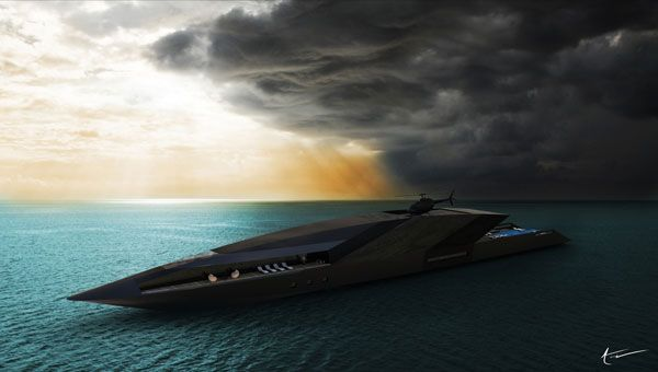 DREAM GARAGE Black Swan Superyacht By Timur Bozca
