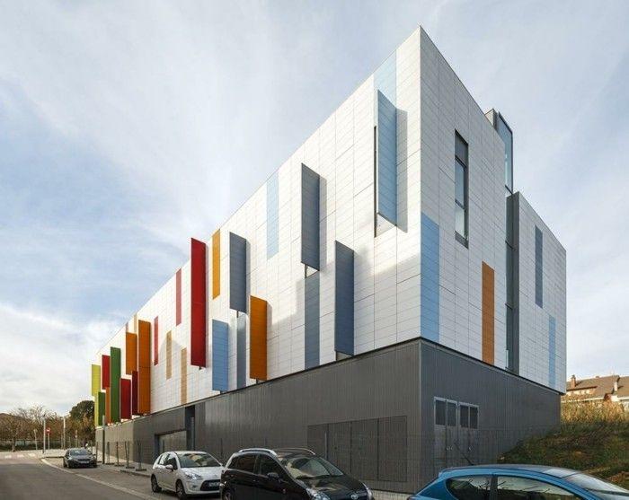 Moderne Fassade bunte fassade belüftet architektur moderne häuser und gebäude