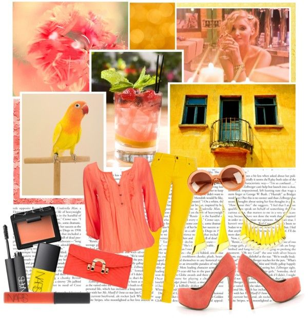 """""""sunshine and corals"""" by lifestyle-ala-grace ❤ liked on Polyvore"""