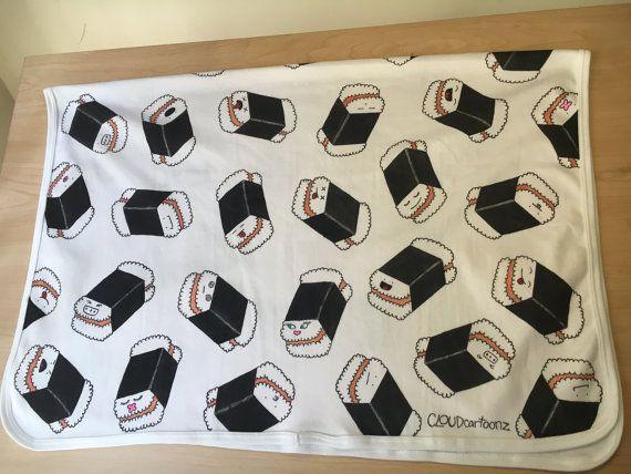 Baby Receiving Blanket Spam Musubi Pattern By