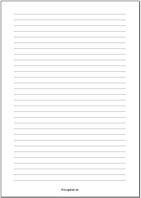 Liniertes Papier Vorlage Linienpapier Muster