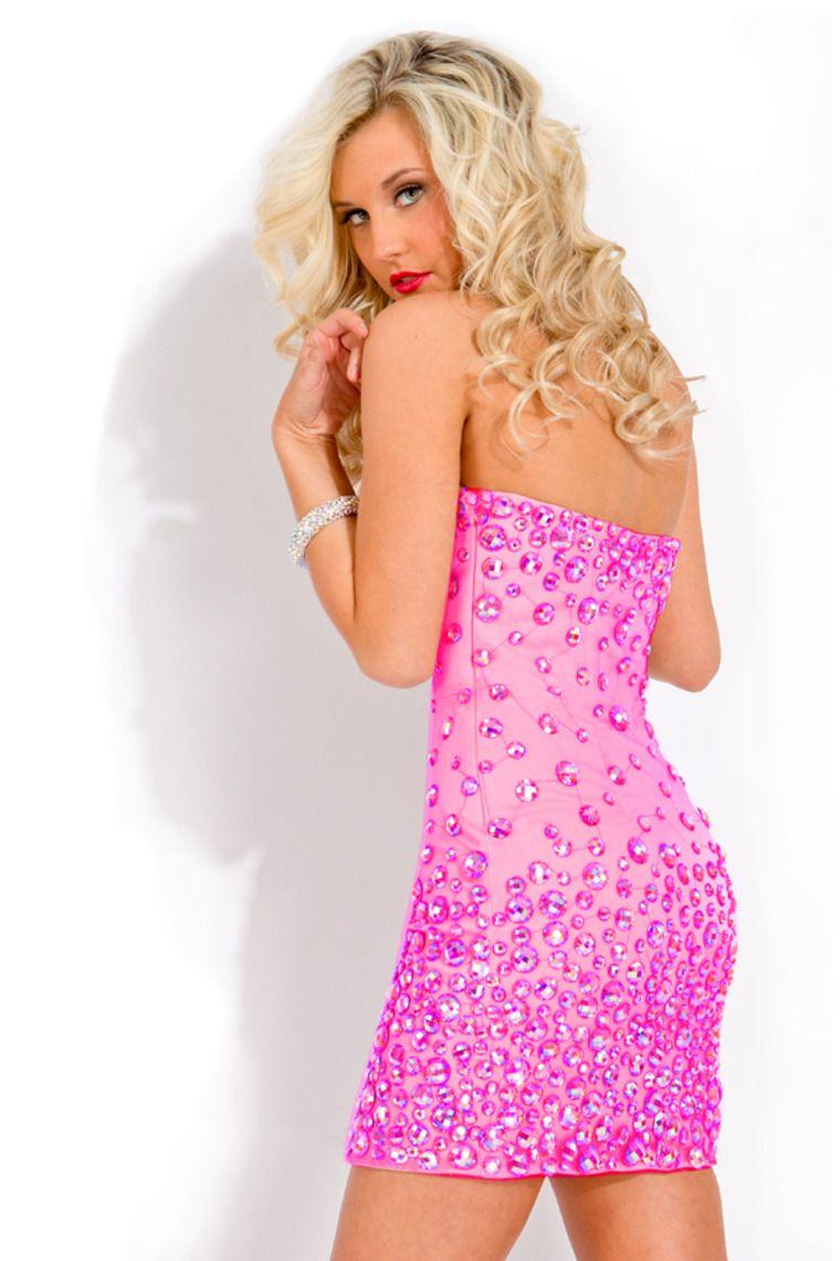 pink/blue big rhinestones   Dresses   Pinterest   Pink, Me encantas ...