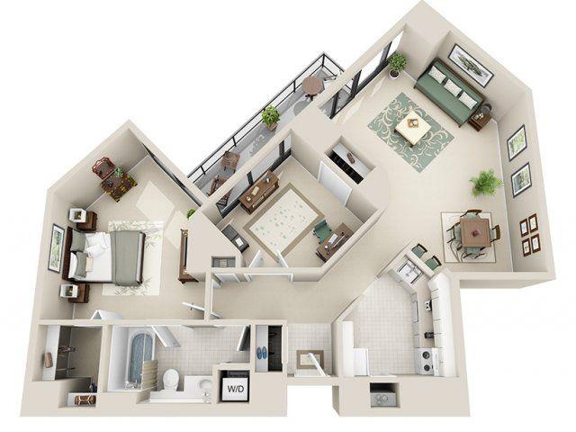 1 Bed 1 Bath Apartment In Detroit Mi Riverfront Towers Apartments Floor Plans Sims House Design Sims House Plans