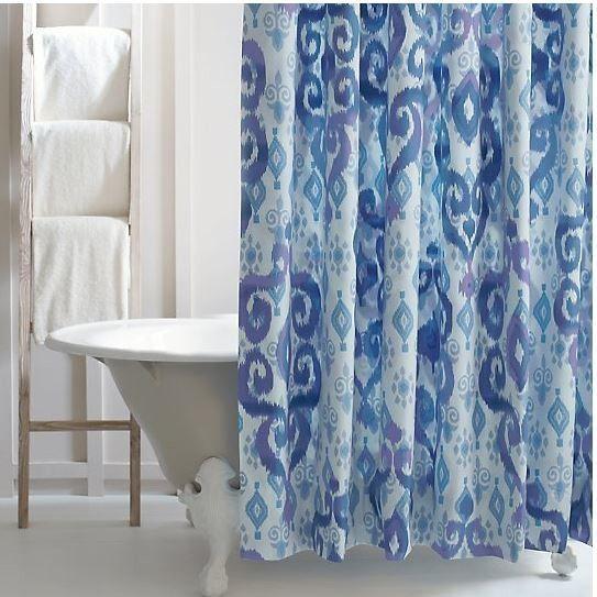 Luna Cotton Shower Curtain