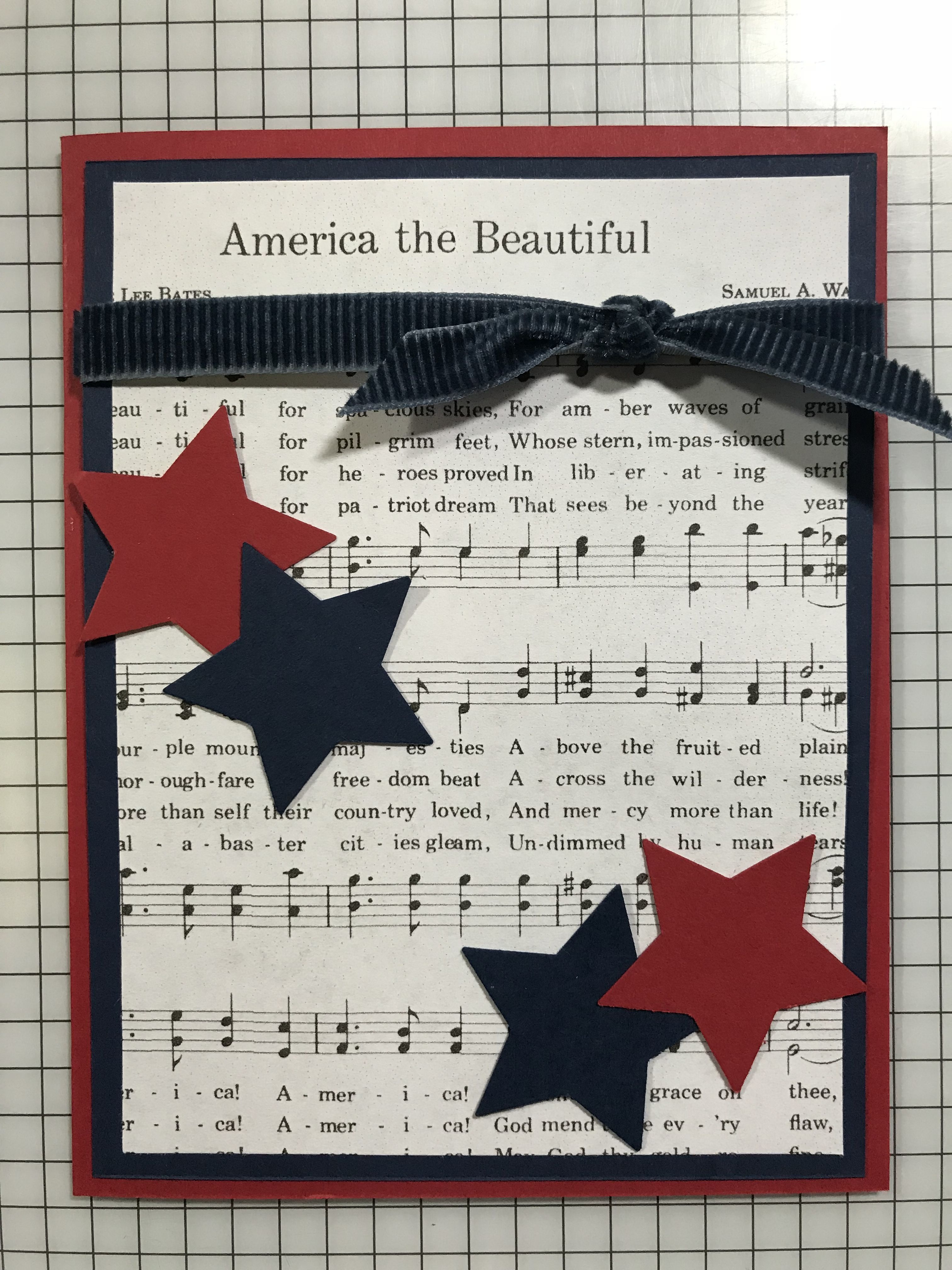 Musical Patriotic Card Cards Military Cards Hand Made Greeting Cards