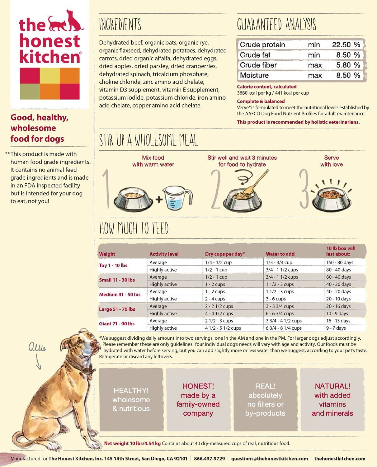 Honest Kitchen Whole Grain Beef Dog Food Dog Food Recipes Make