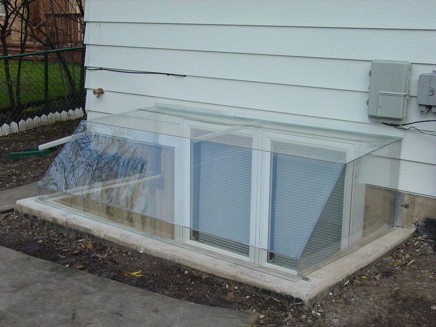 Our Atrium Dome Clear Window Well Covers Are Designed To Cover Your Window  Above The Top Nice Look