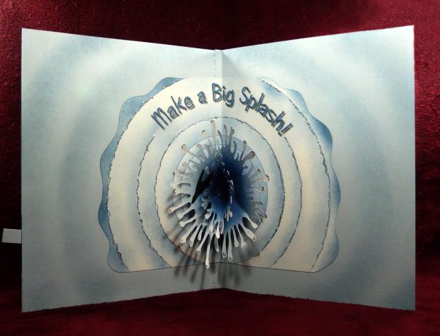 Shoshiplatypus Waves Mechanical Pop Up Card Review And Template Pop Up Art Pop Up Cards Pop Up