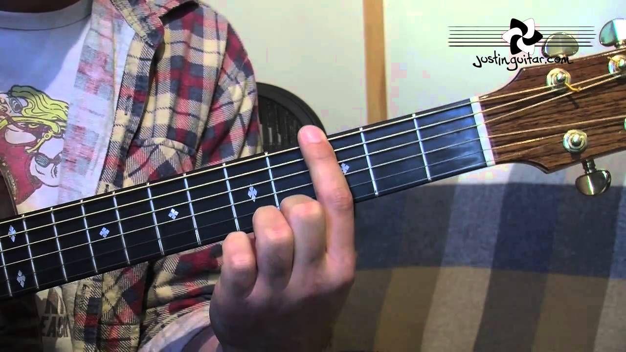 E shape barre chord grip major and minor guitar lesson