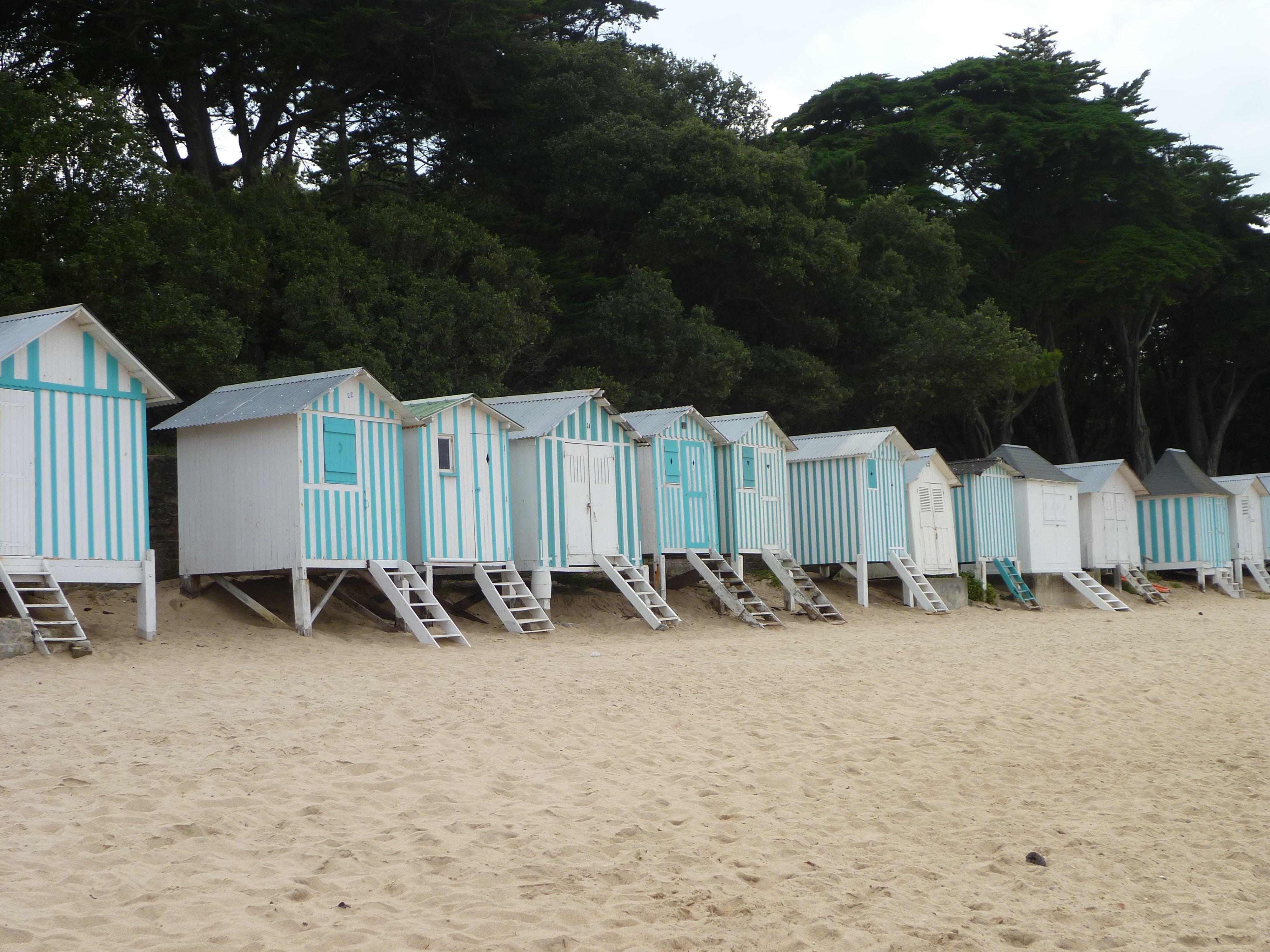 Ile de Noirmoutier Vendée France cabane de plage