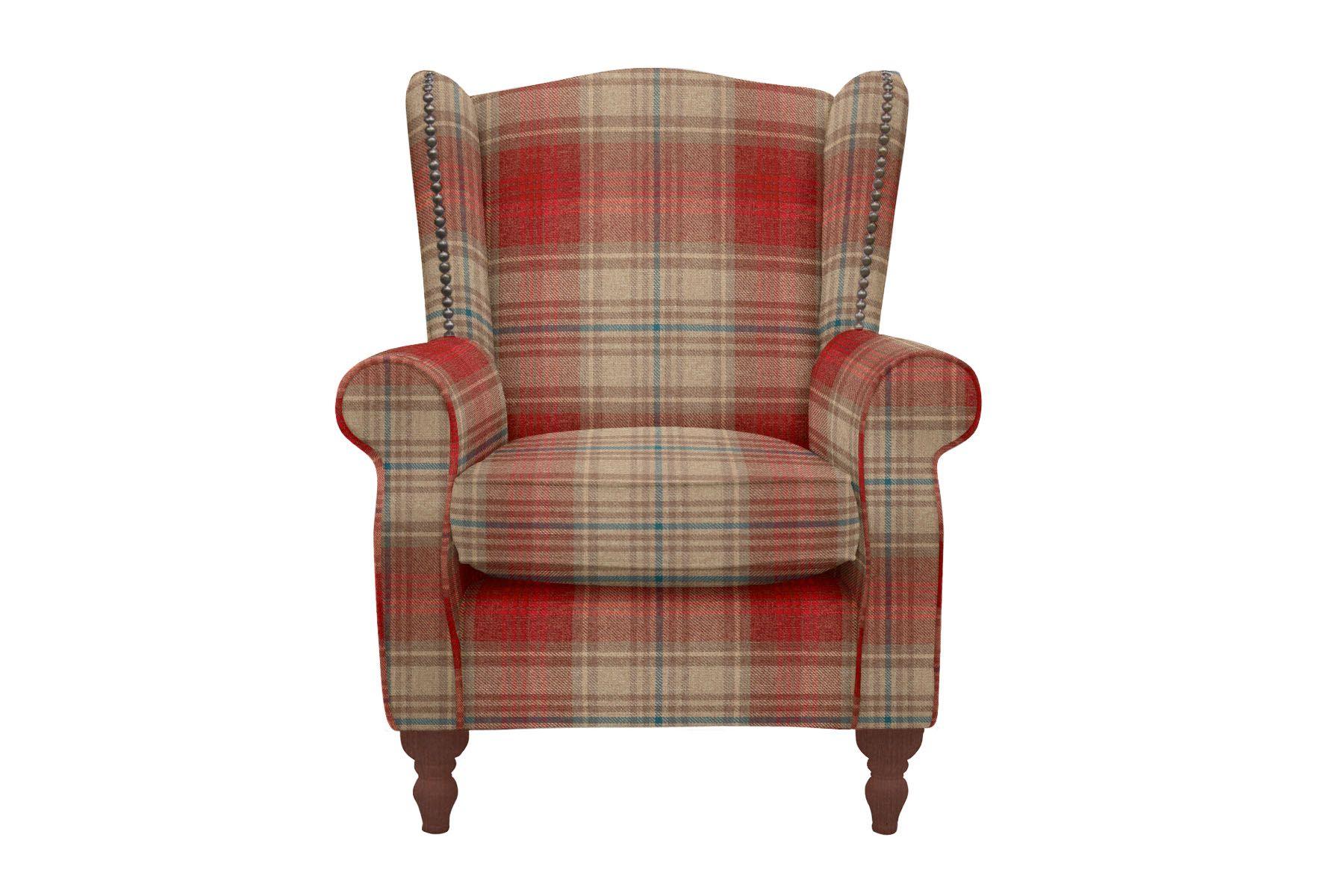 Red Tartan Sherlock Armchair from Next UK Home