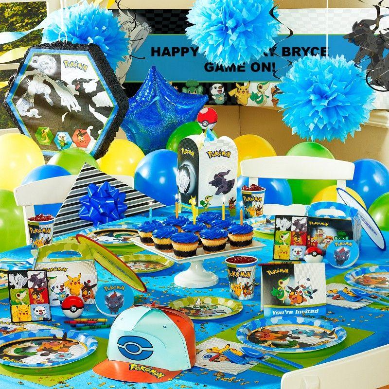 pokemon party ideas party ideas pinterest f tes anniversaire enfant et anniversaires. Black Bedroom Furniture Sets. Home Design Ideas