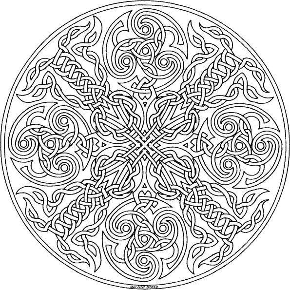 Coloriage Anti Stress Celtique.Coloriage Adulte Celtique