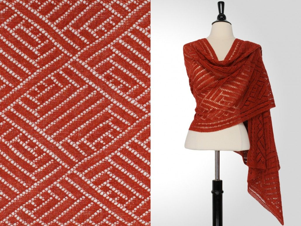 Steve Rousseau Designs • Oliver Rectangular Shawl • Knitting Pattern ...