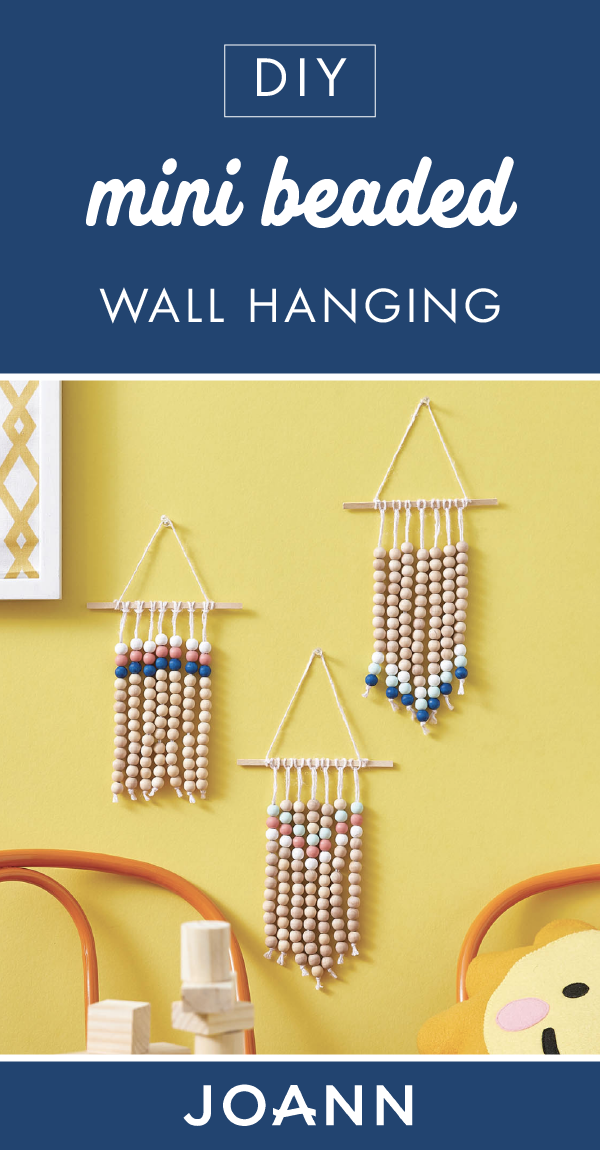These Diy Mini Beaded Wall Hangings From Joann Are Such A Beautiful Addition To Any Room Of Your Home Paint With Images Wall Hanging Valentine S Day Diy Sewing Activities