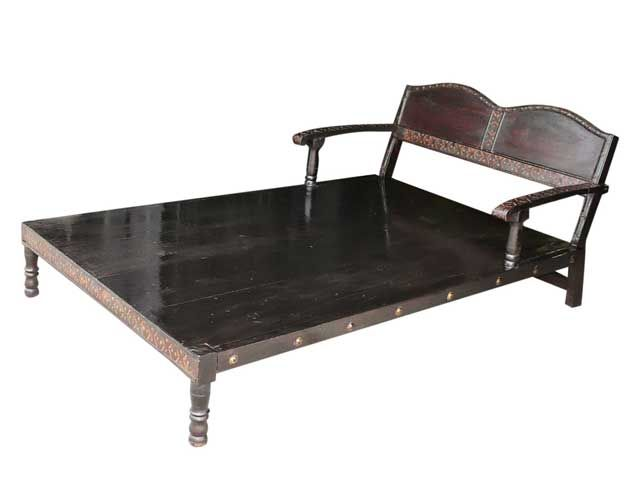 Hand Carved Daybed Indian Furniture