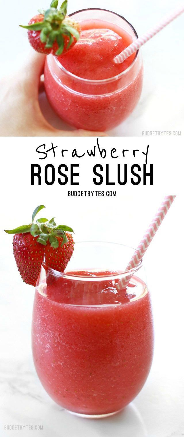 Strawberry Rosé Slush