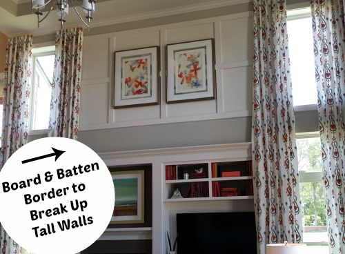 10 Decorating Ideas Spotted In A Model Home. 2 Story FoyerLong  CurtainsHobby HouseWall ...
