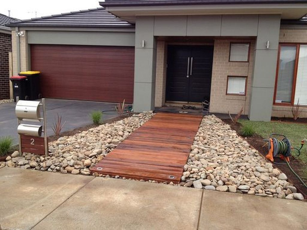 20 modern wooden walkways designs in front door front on modern front yard landscaping ideas id=97990