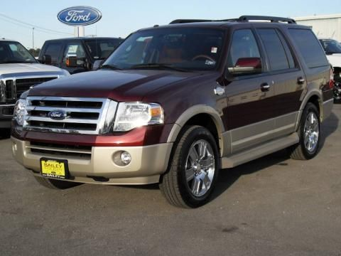 Ford Expedition El King Ranch Edition In Royal Red Metalic I