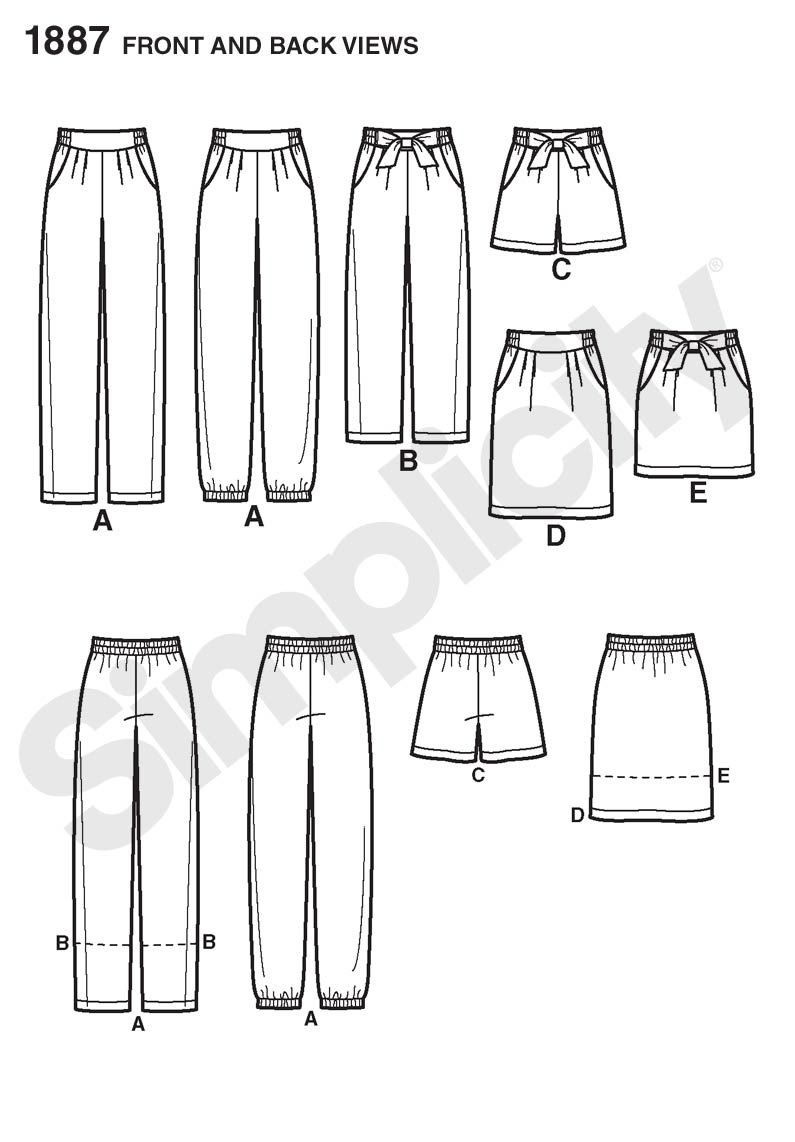 Paper bag waist pants pattern - This Could Either Be Awesome Or Really A Disaster Simplicity Paper Bag Elasticized Waist Pant Short Or Skirt With Pockets