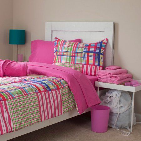 Somerset Home Reversible Dorm-in-a-Bag Bedding & Bath Set, Nora, Multicolor