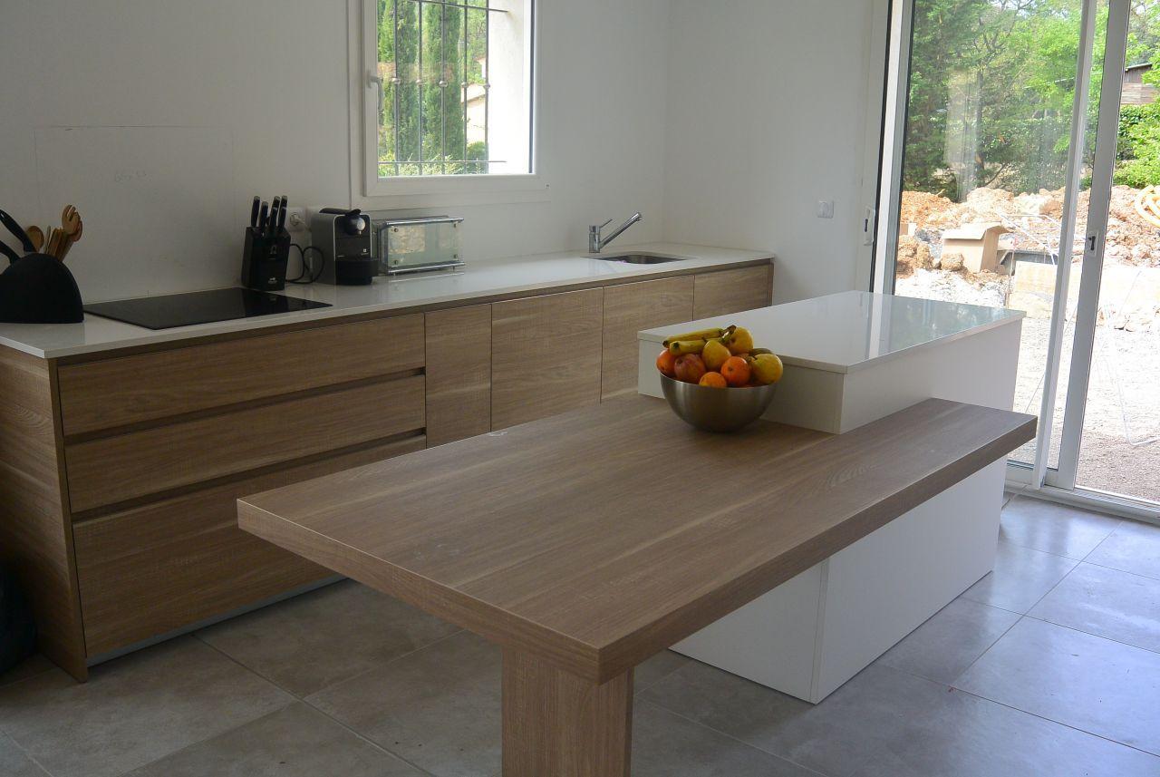 Cuisine modulnova mod le light rovere bruges et laqu - Modele cuisine blanc laque ...