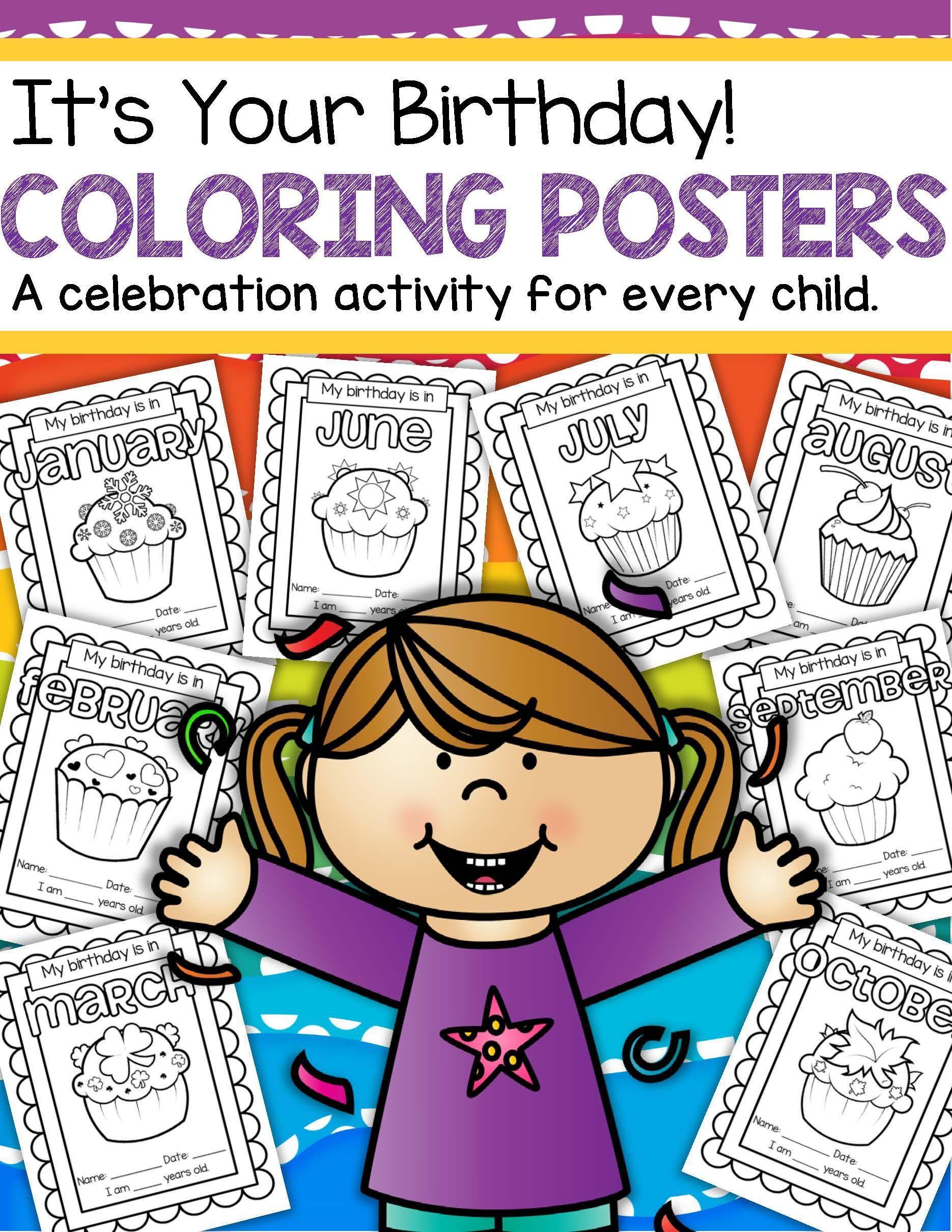 Birthday Posters To Decorate By The Month