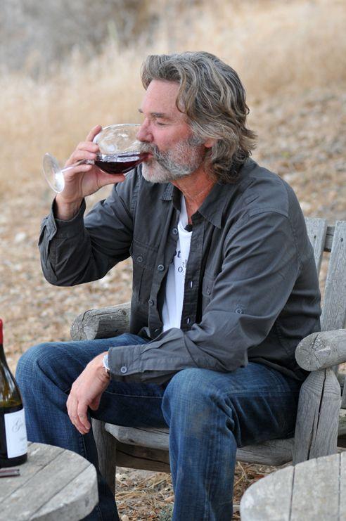 Kurt Russell Gogi Wines Grey Hair Men Older Mens