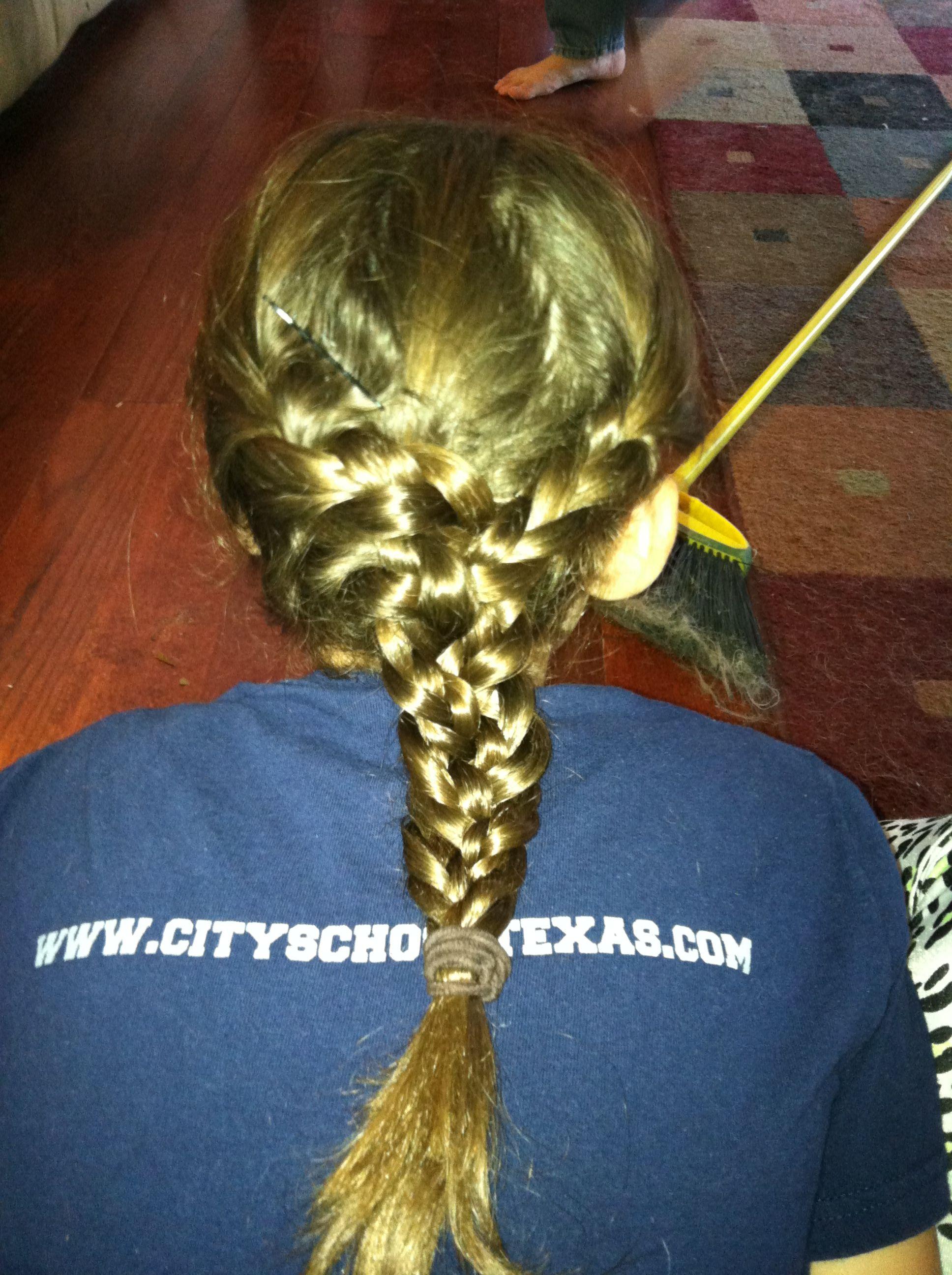Three way braid I did to my sisters hair!!