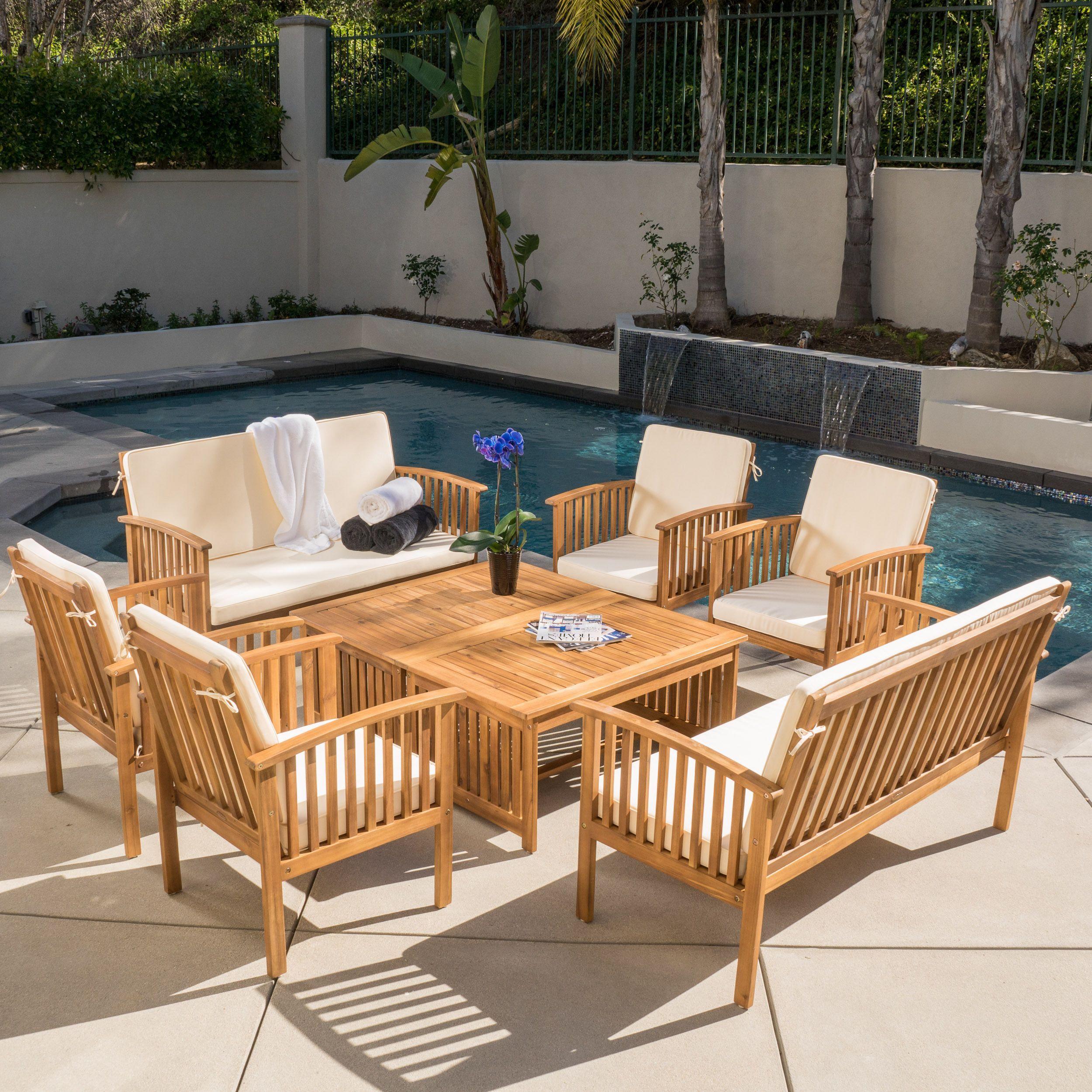 Carolina Acacia 8-piece Outdoor Sofa Set By Christopher