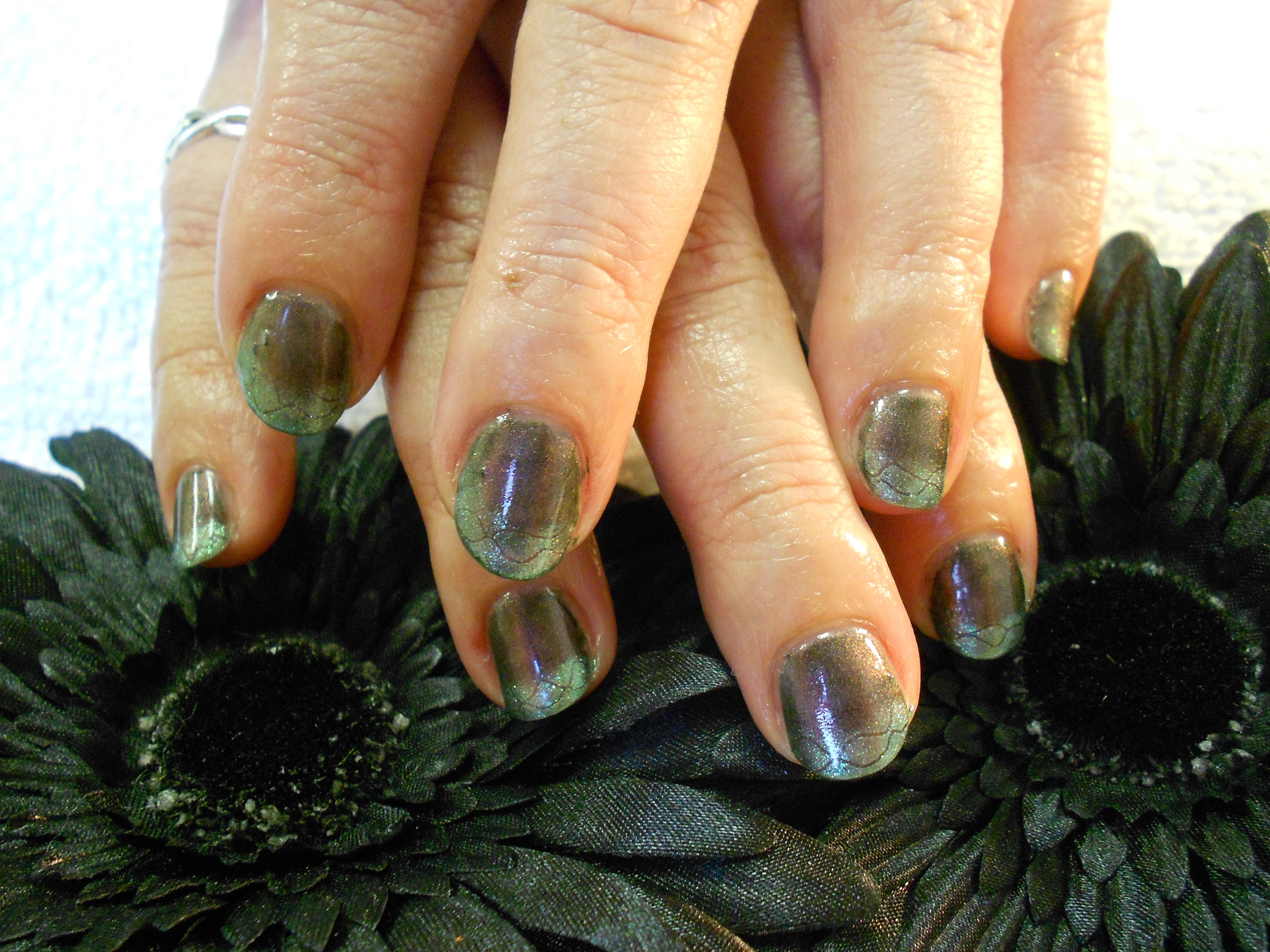 Shellac additives and etching by April Brucker