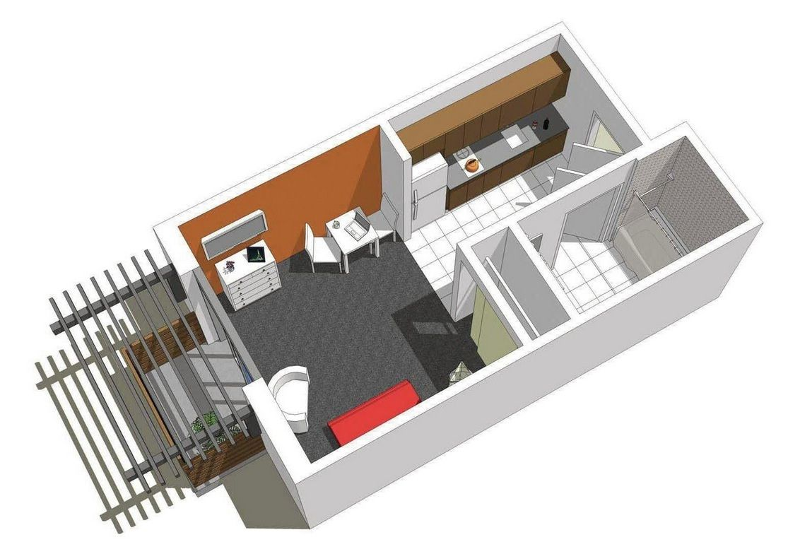 Sweet Looking 3 Floor Plans For Small Apartments Studio