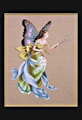 Cottage Garden Fairy Cross Stitch Pattern The