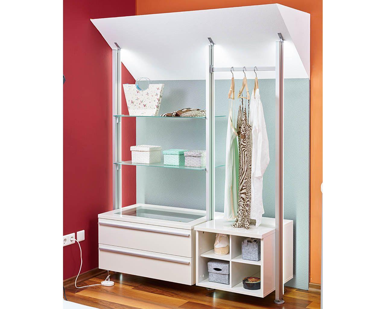 begehbarer kleiderschrank venduna ist eine ideale l sung f r das zimmer mit dachschr gen. Black Bedroom Furniture Sets. Home Design Ideas