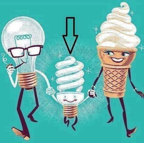 ice cream light bulb funny humor pictures