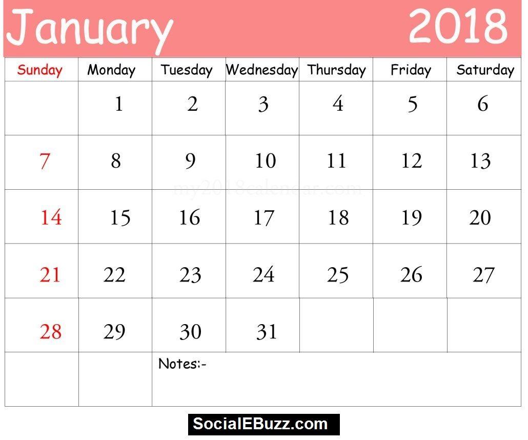 Pin By Calendar Printable On January Calendar