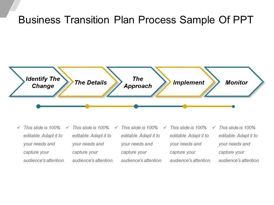 Business Transition Plan Template 4 Features Of Business