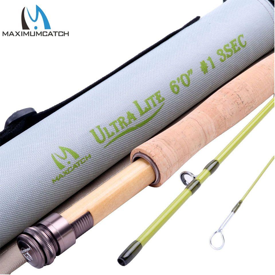 Maximumcatch New Arrival 1wt Fly Fishing Rod 6ft 3pcs Medium Fast Fly Rod Fly Fishing Rods Fly Rods Fishing Rod