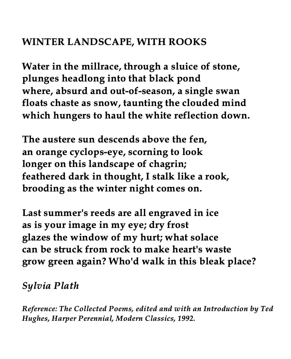 Sylvia Plath Winter Landscape With Rook Word Poems John Keat Ode To Autumn Analysis Analysi Summary Pdf