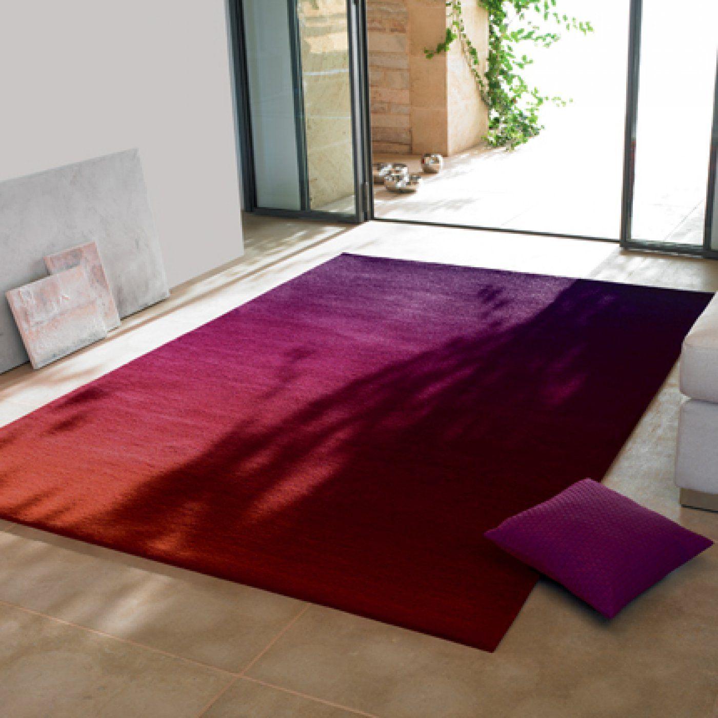 Tapis En Acrylique Degrade Rouge Violet Esprit Home Deco