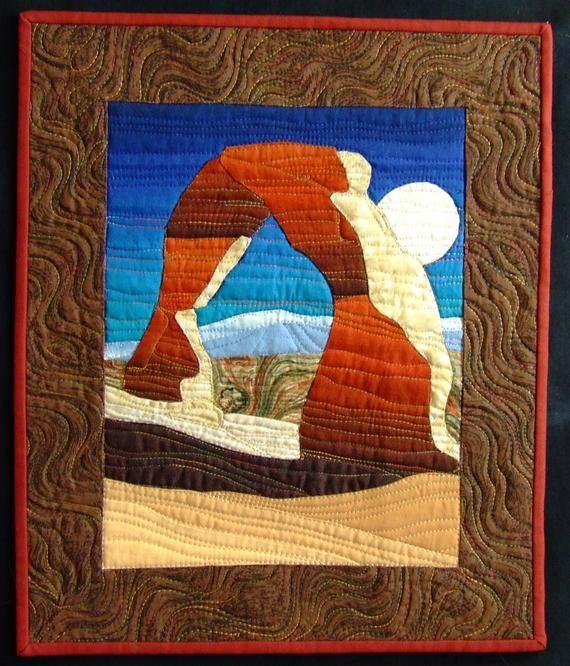 Machinaal Patchwork En Quilten.Delicate Arch Quilt Pattern Landscape Quilts Delicate
