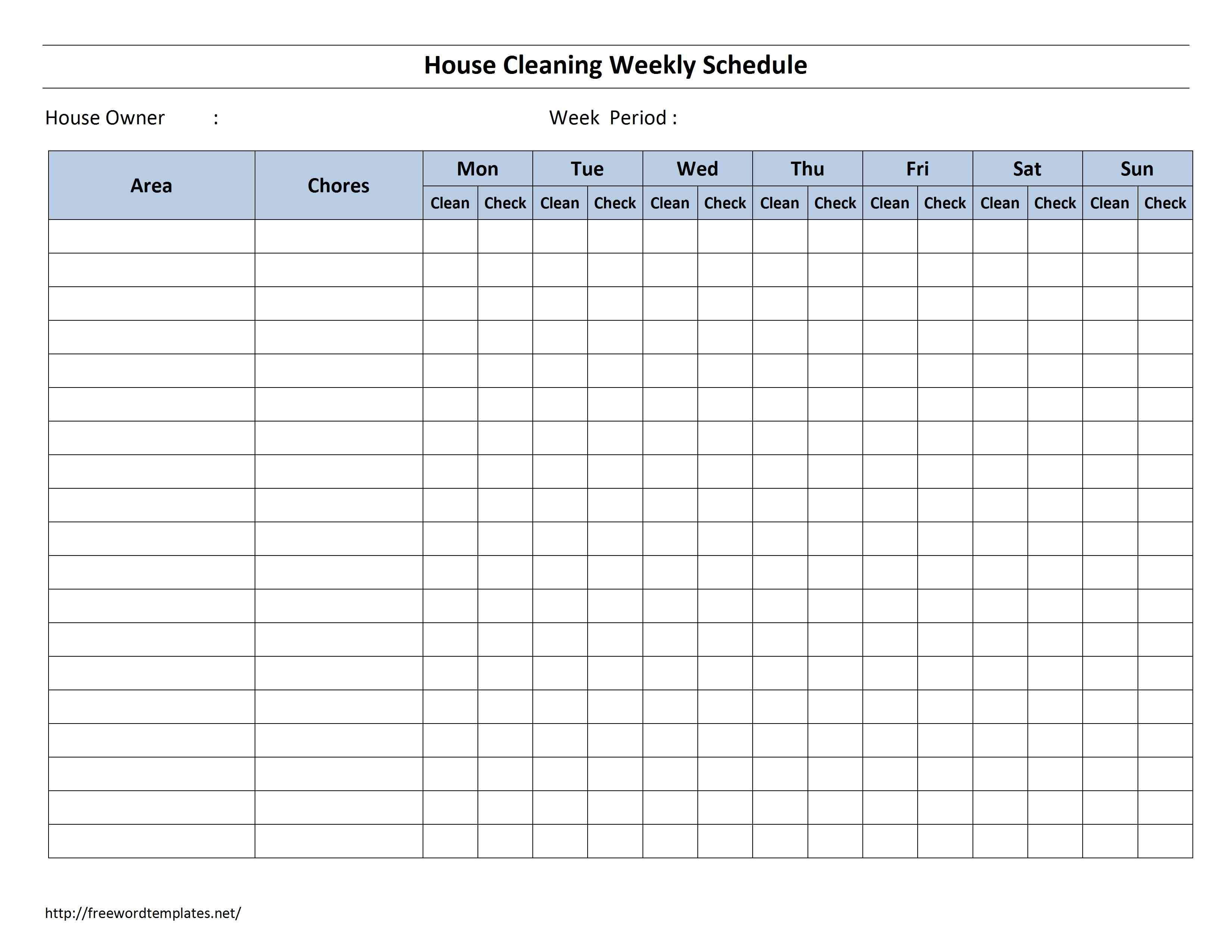 Daily Cleaning Checklist For Office – Printable Editable Blank