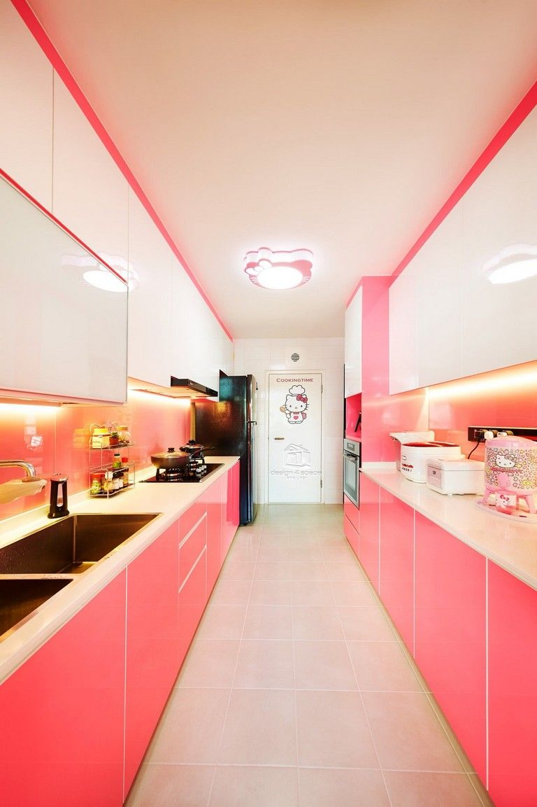 45 inspiring pink kitchens with tips accessories to help you design yours kitchendesign on kitchen decor pink id=64934